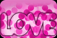 Love Is Pink Background