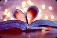 Bookmark Love Heart Background
