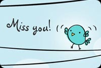 Cute Little Bird Miss You Background
