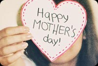 Heart Mother's Day Card From Daughter Background