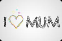 I Heart Mum Background