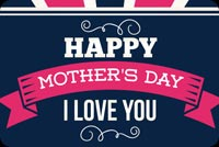 Colorful Mother's Day Background Background