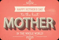 Typographic Mother's Day Background