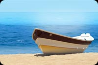 Boat On Beach Background