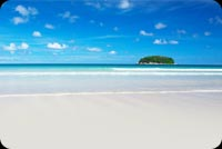 Blue Sky Beach Background