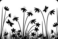 Nature Black & White Art Background