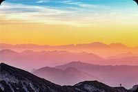 Sunset Sky Mountain Background