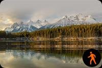 Animated Beautiful Landscape Reflection Background