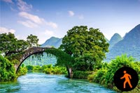 Animated Beautiful Countryside River Background