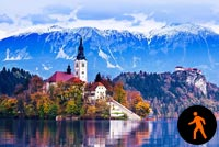 Animated Lake Bled Slovenia Background