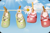 New baby email backgrounds. Baby Shoes