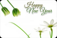 Happy New Year Flowers Background
