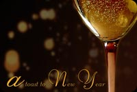 A Toast To New Year Background