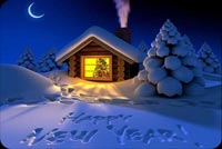 Winter Happy New Year Background