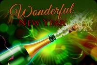 Wonderful New Year Wishes Background