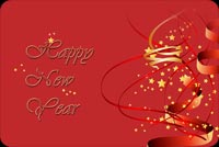 Happy New Year Red Theme Background