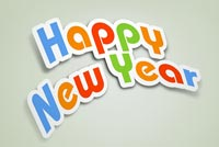 Cool Text Happy New Year Background