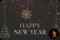 Animated Happy New Year Gold Confetti Background
