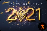 Animated New Year Eve 2021 Fireworks Background