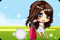 Girl Golf Player Background