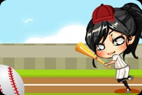 Girl Baseball Background