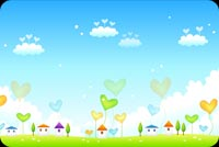 A Romantic Spring Wish Background