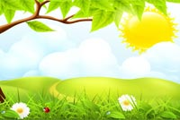 Sunny Spring Wishes Background
