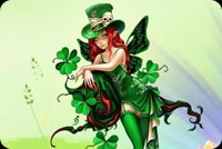 Cute Green Fairy Background
