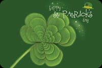 Green Clover & Green Hat Background