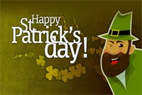 St patricks day email backgrounds. Irish Man Winks