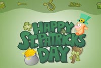 St. Pat's Day Leprechaun For Luck Background