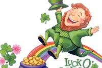 St patricks day email backgrounds. Luck O The Irish