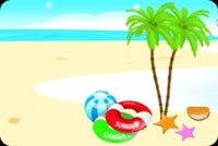 Summer email backgrounds. Paradise Island