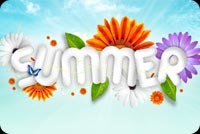 Summer email backgrounds. A Summer Morning