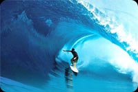 Big Wave Surfing, Summer Fun Background