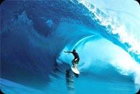 Big Wave Surfing, Summer Fun Background