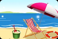 Summer email backgrounds. Beach Chairs In The Sun