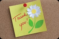 Thank You With Flower Background