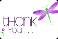 Thank you email backgrounds. Dragonfly & Thank You Note