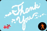 Sky Writing Thank You By Pbs Kids Background