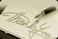 Pen & Thank You Note Background