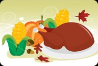 A Delicious Thanksgiving Dinner! Background
