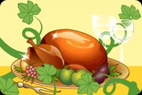 Serve A Thanksgiving Wish Background