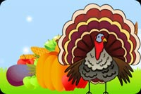 Special Thanksgiving Turkey Background