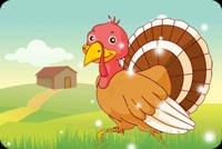 Thanksgiving Turkey Fun Background