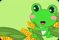 Thanksgiving email backgrounds. Cute Little Frog