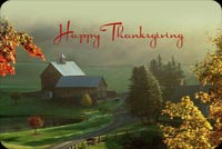 Country Home Thanksgiving Background