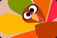 Thanksgiving email backgrounds. Cute Thanksgiving Turkey