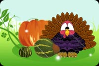 Turkey-fic Happy Thanksgiving Background
