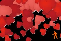 Animated Hearts Exploding Background